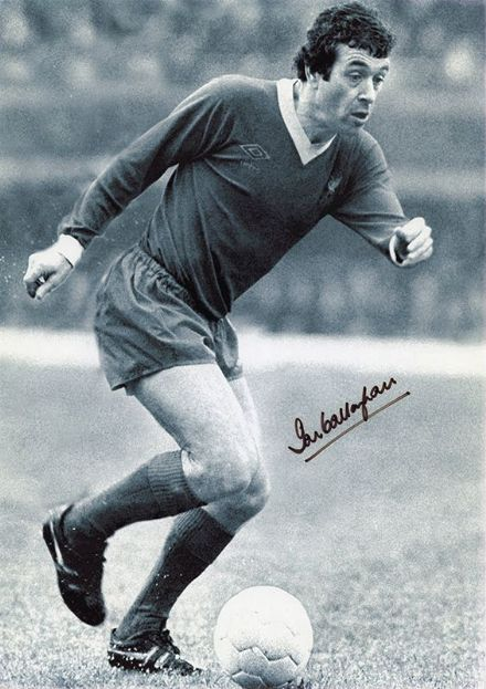 Ian Callaghan, Liverpool, signed 12x8 inch photo.